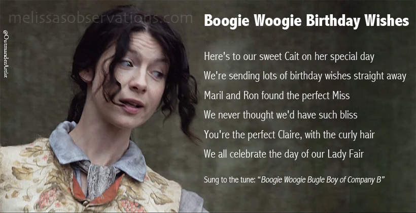 Boogie Woogie Birthday Wishes To Caitriona Balfe Or The Singing
